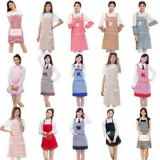 Lovely Dotted Pattern Flounce and Bow-knot Design Apron with Big Pocket For Lady
