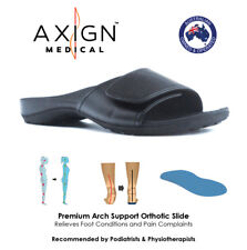 AXIGN™ Orthotic Arch Support Sport Slides (BLACK) - Foot Pain Relief