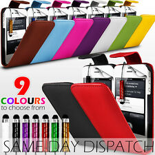 LEATHER FLIP CASE COVER,SCREEN PROTECTOR & STYLUS PEN FOR APPLE IPHONE 4 / 4S