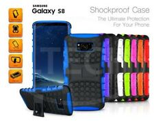 Samsung Galaxy S8 Duos Dual SIM - Shockproof Tough Silicone Strong Case w/ Stand