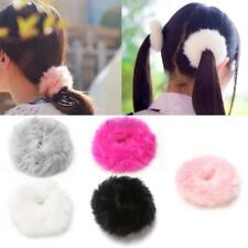 Fashion Fluffy Faux Fur Furry Scrunchie Elastic Hair Ring Rope Band CO99 02
