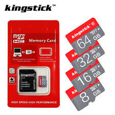 Kingstick Memory Card 16GB 32GB 64GB Micro SD Card SDHC Class10 Free Adapter