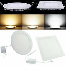 Recessed Dimmable Panel LED Light Flat Downlight 3W 6W 9W Ceiling Spotlight Lamp