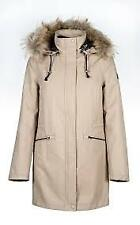 Equiline Ladies Parka Betsy Black coat winter jacket faux fur collar hood