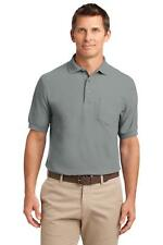 Port Authority K500P Men's Silk Touch Polo with Pocket Polo Shirt NEW