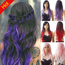 """Synthetic 27.5"""" Daily Full Wigs Curly Wavy Straight Heat Ok Costume Party Mhn"""