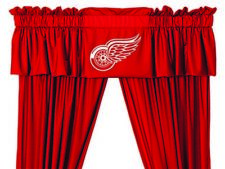 Detroit Red Wings Curtains Window Valance and Drapes Set