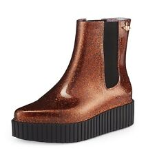 Vivienne Westwood Anglomania Melissa Chelsea Boots Creeper Brown Glitter