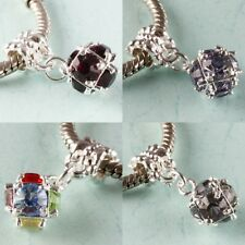 Crystal 10mm Disco Ball Dangle Beads Charms Findings Fit European Bracelet