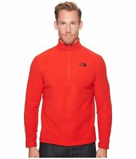 NEW Mens THE NORTH FACE Centennial Red TKA 100 GLACIER 1/4 Zip Front Pullover