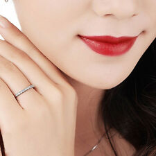 Women Fashion Platinum Plating Ring Thin Carved Pattern Finger Jewelry Exquisite