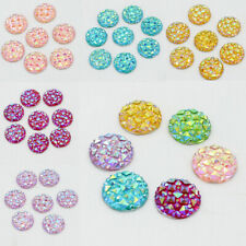 50x Resin Round Dotted Rhinestone Cabochon Flatback Craft DIY Scrapbooking 12mm