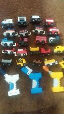 Fisher Price Geotrax Geo Trax  (22)Train Cars Vehicles & 3 Remotes