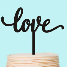 LOVE Cake Topper Monogram Personalised Wedding Cake Toppers Custom Decorations