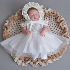 Adorable Newborn Lace Baptism Dress Elegant Baby Girl Christening Dress Gown