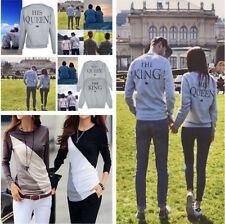 USA Lovers Couple Long Sleeve Hoodie - King And Queen His and Hers Cotton Shirts