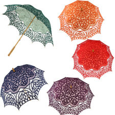 Handcraft Lace Flower Embroidery Umbrella Craft Parasol Wedding Bridal Prop
