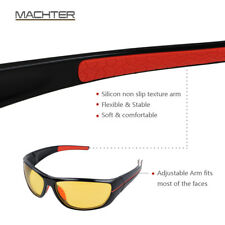 HD Night Vision Driving Glasses Sports Sunglasses  YELLOW HIGH DEFINITION Wrap