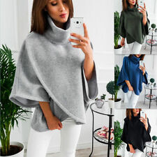 Women Oversized Sweater Batwing Long Sleeve Cardigan Tops Baggy High Neck