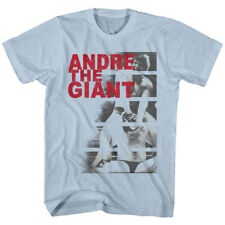 Andre The Giant Wrestling T-Shirt 100% Licensed ANDRE BARS Tee in Sizes SM - 2XL
