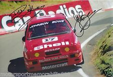 Dick Johnson John Bowe SIGNED 6x4 or 8x12 photos V8 Supercars DJR FORD SIERRA