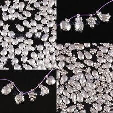 Silvery Metal Fruits Craft Beads Charms For Bracelet Jewelry Making Findings