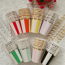 Disposable Birthday Tableware Party 8pcs Wedding Paper Cups Colorful Supplies