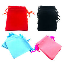 50pcs Velvet Jewelry Drawstring Gift Bag Pouches Wedding Party Favor Vary Color