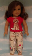 """Pajamas handmade for 18"""" American Girl Doll to fit 18 inch Doll Clothes 312a"""