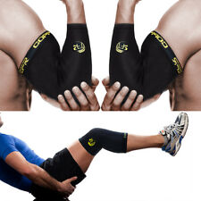 Copper Compression Knee Elbow Support Sleeve Fitness Gym Sports Arthritis Brace