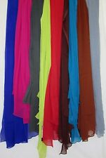 Scarf 201 Chiffon Georgette Dupatta Chunni Wrap Solid Assorted Colors
