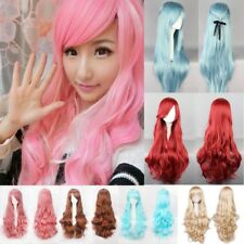 "Fashion Anime Wigs Long Curly Straight 24""-40"" Heat Safe For Cosplay Party Cd3"