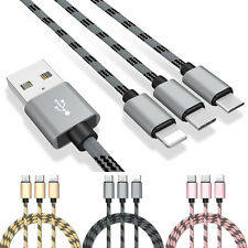 For iPhone Android Phone 3 in 1 Lightning Micro Type-C USB Charging Data Cable