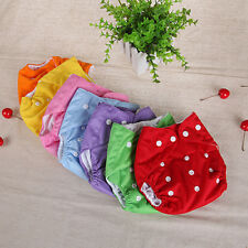 Washable Baby Infant Pocket Nappy Dotted Cloth Reusable Diaper Adjustable Grace