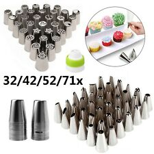 32/42x Russian Icing Piping Nozzles Set Kit Pastry Tips DIY Cake Decorating Tool