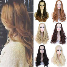 Female Long Straight Wavy Curly 3/4 Wigs Natural Hair Half Head Wig Daily Hzx