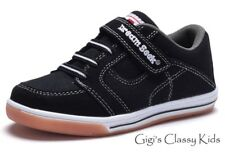 New Boys Black Canvas Tennis Shoes Athletic Sneakers Toddler Youth Kids Skate