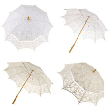 Cotton Lace Floral Umbrella Parasol Wedding Bridal Flower Girl Decor Photo Prop