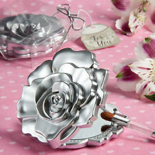 Realistic Rose Design Compact Mirror Gift for her Bridal Shower Favors