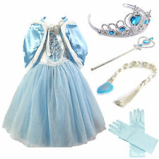 2018 Girls Kids Elsa Frozen dress costume Princess anna party dresses cosplay