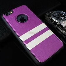 For iPhone 6 6S Plus Slim Matte PU Leather Hybrid TPU Case+Tempered Glass Screen