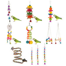 Colorful Bird Toy Parrot Swing Cage Toy For Parakeet Cockatiel Budgie Lovebird