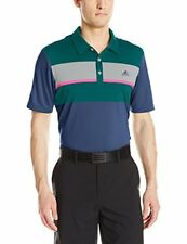 adidas Golf Men's Climacool Engineered Block Shirt, St Dark Slate/Rich Green/Mi