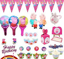 Peppa pig Flag Topper Table Cover Party Tableware Birthday Decorations Supplies