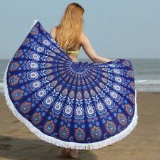Beach Towel Round Mat Tapestry Blanket Throw Mandala Hippie Picnic Tassel 150cm