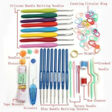 1SET Home Knitting DIY Tools Set Crochet Hook Stitch Weave W/Case Box Yarn Kit