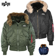 Alpha Industries Men's Jacket 45 P Hooded Winter Bomber S to 3XL NEW