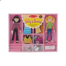 Melissa & Doug Abby and Emma Deluxe Magnetic Wooden Dress-Up Dolls Play Set (55