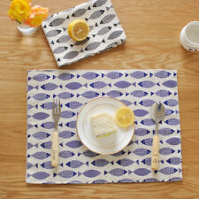 Table Mats Tableware Pads Cloth Placemats Double Insulated Cotton Mat Table Pad