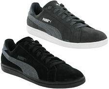Puma Suede Classic Smash Jersey Leather Mens Trainers Grey, Black